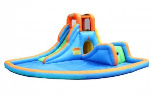 5041 bounceland cascade water slide with pool