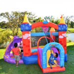 9022 Bounceland dragon castle bounce house with slide