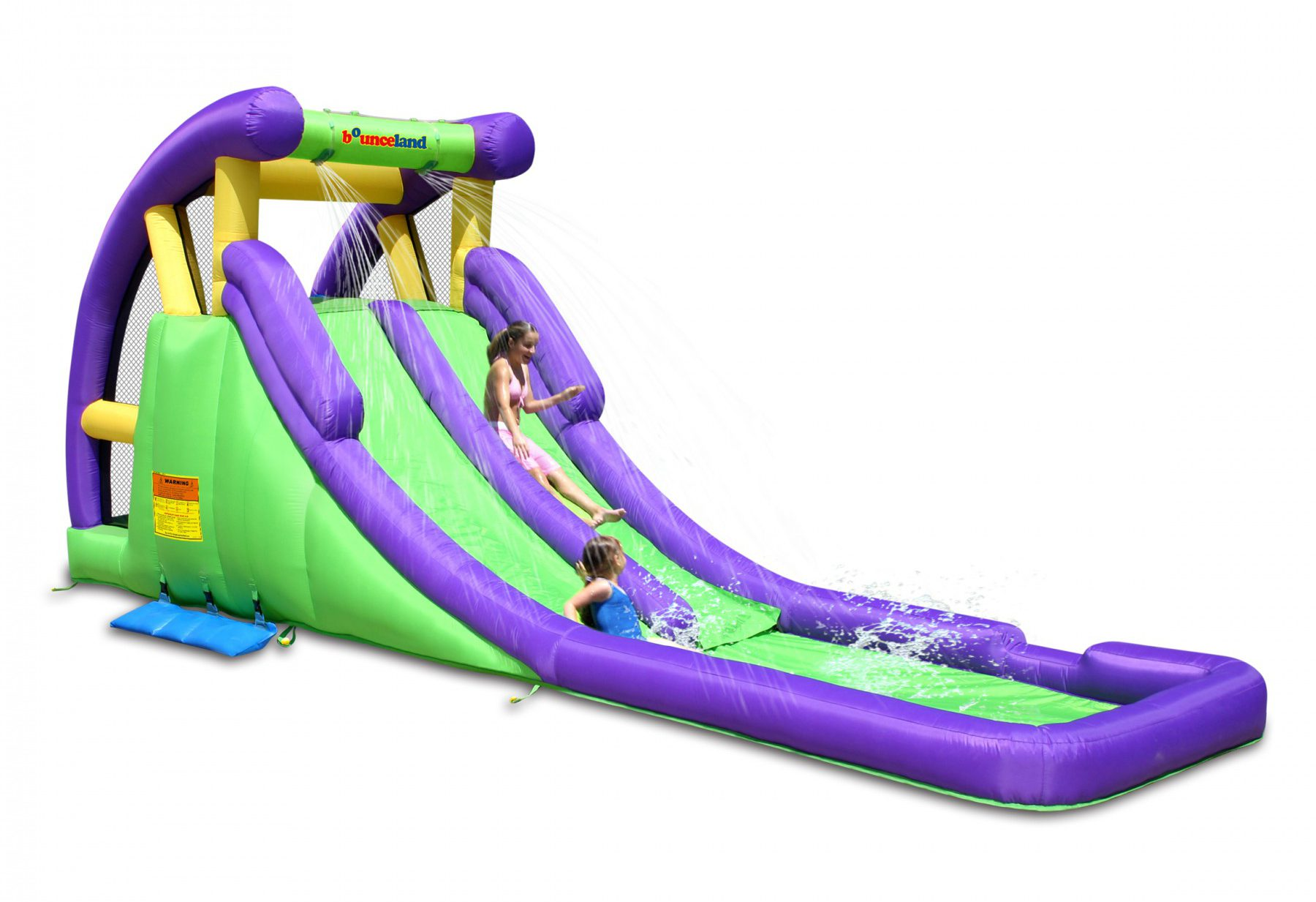 9029A bounceland double water slide with pool