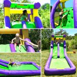 9029A bounceland double water slide features kids play
