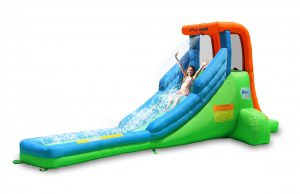 9032A single water slide green bounceland