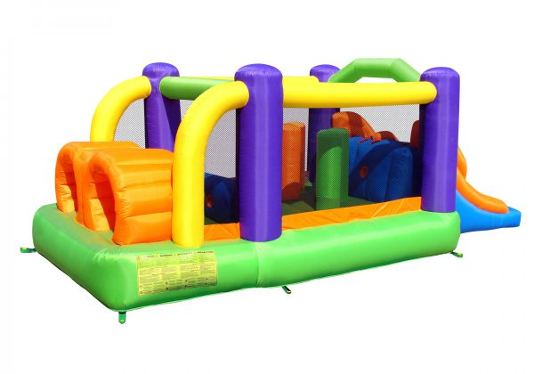 9063 obstacle pro-racer combo bounce house slide