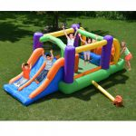 9063 obstacle pro-racer combo bounce house slide kids play outdoor indoor fun