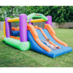 9063 obstacle pro racer bounce house with slide