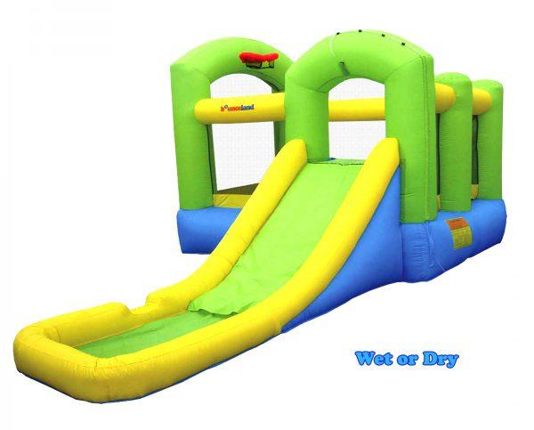 9125 bounceland bounce 'n splash wet or dry combo bounce house water slide