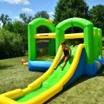 9125 bounceland bounce 'n splash wet or dry combo bounce house water slide kids play outdoor indoor fun