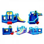 9143 pop star bounce house with slide