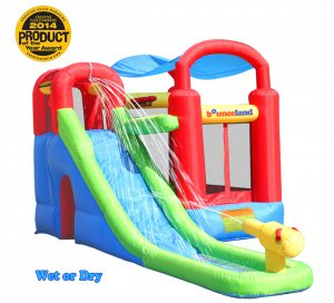 playstation wet or dry combo bounce house slide ourdoor indoor