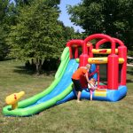 9253 playstation wet or dry combo bounce house water slide kids play outdoor