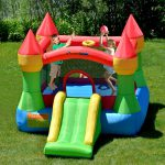 9917 bounceland castle bounce house with slide and hoop