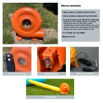 w4L blower included for bounce house