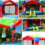 9218A party castle bounce house with slide features