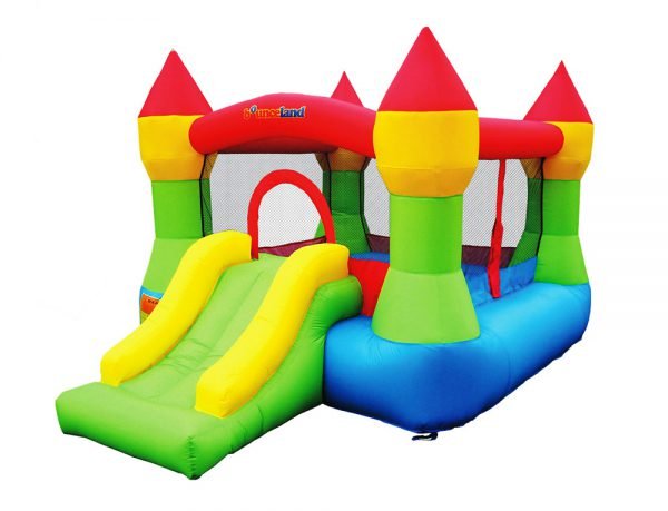 Inflatable Castle bounce house with hoop image 1