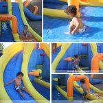9045 big splash triple slide water park kids play features