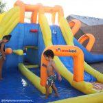 9045 big splash triple slide water park kids play