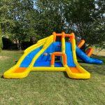 9045 big splash triple water slide water park