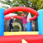 9927 Kiddie Castle bounce house play basketball
