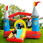 9927 kiddie castle bounce house with slide outdoor play
