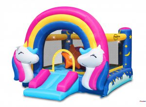 8004 fantasy bounce house with light and sound interaction
