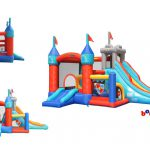 9021 medieval castle bounce house with slide