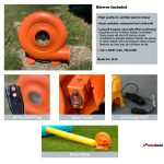 W-4L Inflatable Bounce House water slide blower