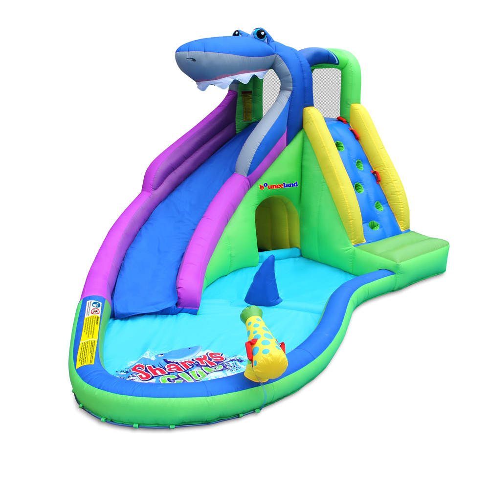 Little Sharks Water Slide with Pool and water gun