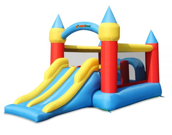 Castle Obstacle Bounce House with Slide 9474