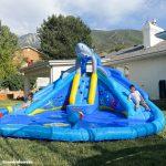 shark tank water slide kids play