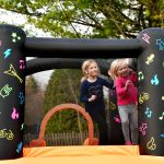 8003 Kidz Rock Bounce House with slide interacting lights and sound