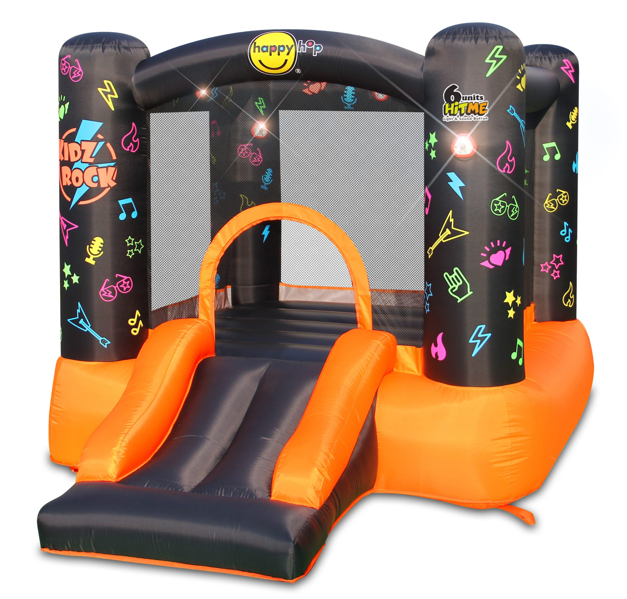 Bounce House - Kidz Rock Bounce House with Lights and Sound interaction