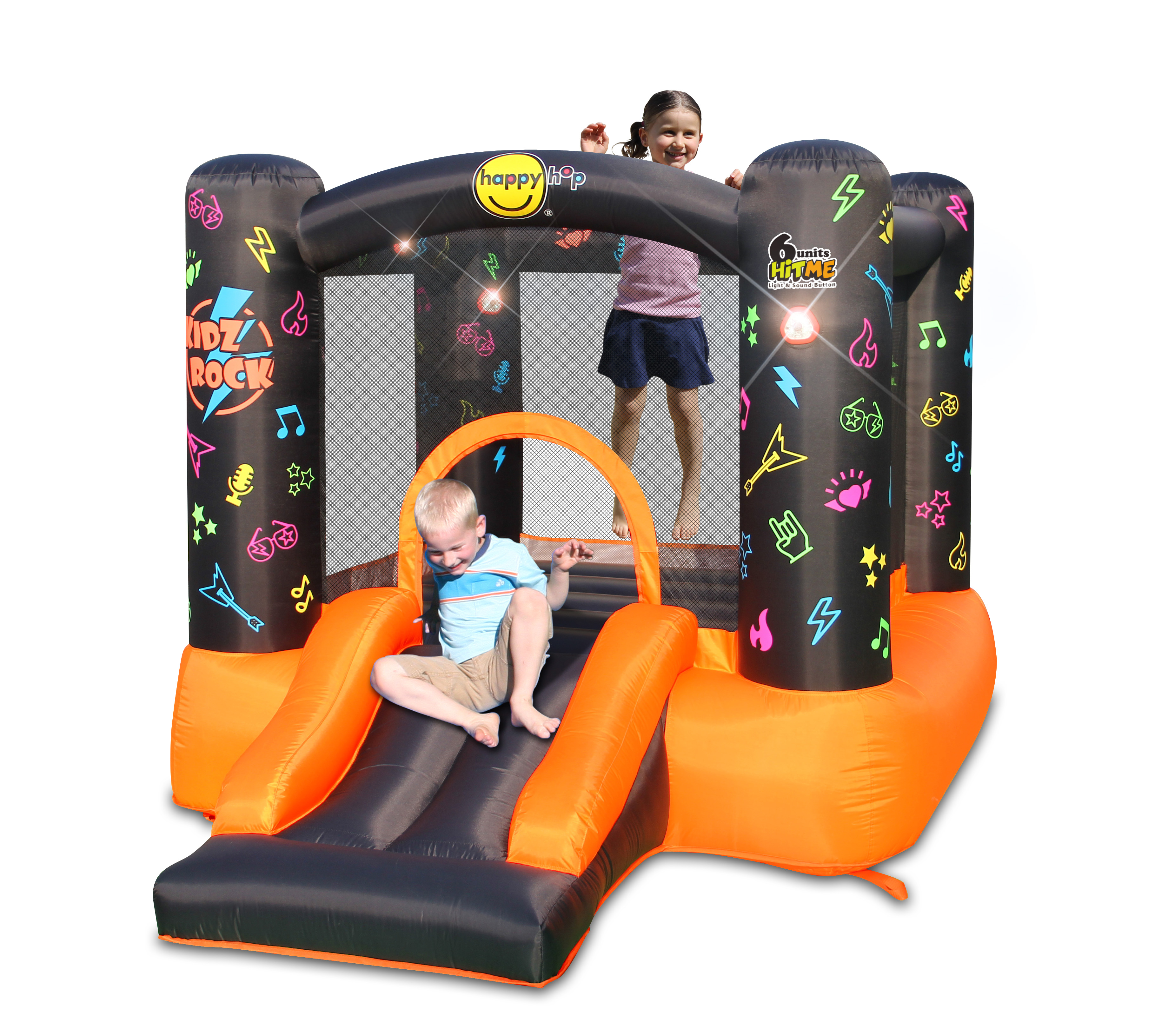 Bounce House - Kidz Rock Bounce House with Lights and Sound interaction 2