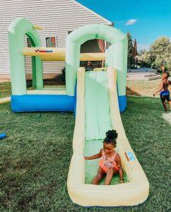 bounce 'n splash island wet or dry bounce house water slide kids play splash pool