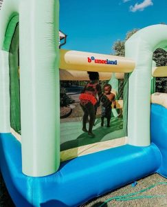 bounce 'n splash island wet or dry bounce house water slide kids play
