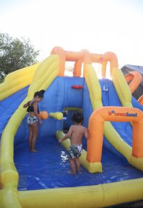 big splash triple water slide water park kids play