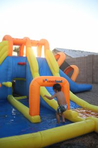 big splash triple water slide water park kids play tunnel