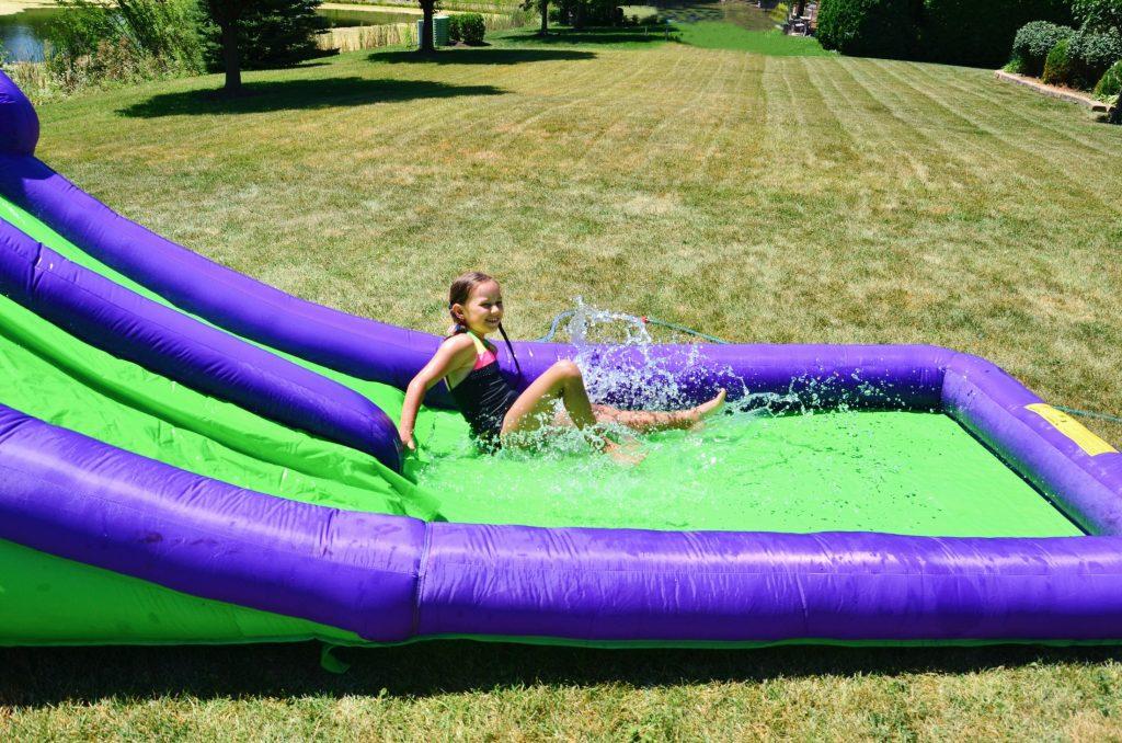 double water slide fun
