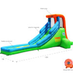 9032 single water slide features